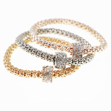 3PCS Carter  Bracelets & Bangles Women Fashion Circle Crystal Bracelets for Women Elastic Charm Jewelry Pulseiras