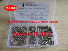 180pcs M3 Cup Point Hex Socket Set Screw DIN916 stainless steel Grub screws