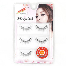 Фотография 3 Pairs/Lot Tapered 3D False Eyelashes Extension Fake Eye Lashes Cilios Posticos Naturais Faux Cils Wimpers Makeup Tools XY02