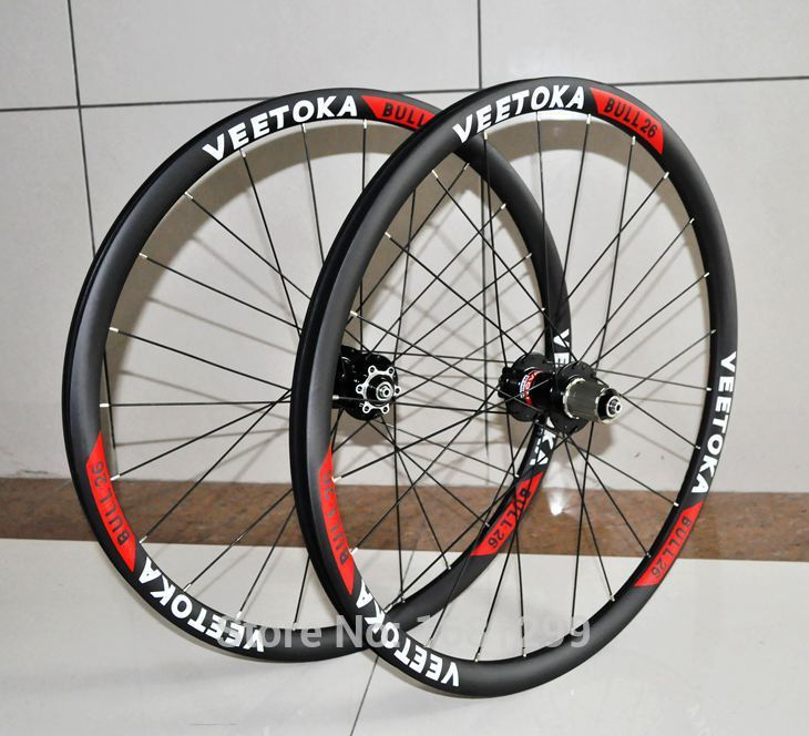Newest VEETOKA 26 inch 30mm clincher rim Mountain bike matt UD T800 full carbon fibre bicycle wheelset 26er MTB parts Free ship 2017 newest road bicycle t800 matt ud full carbon fibre bike handlebar and stem integratived with computer stent parts free ship