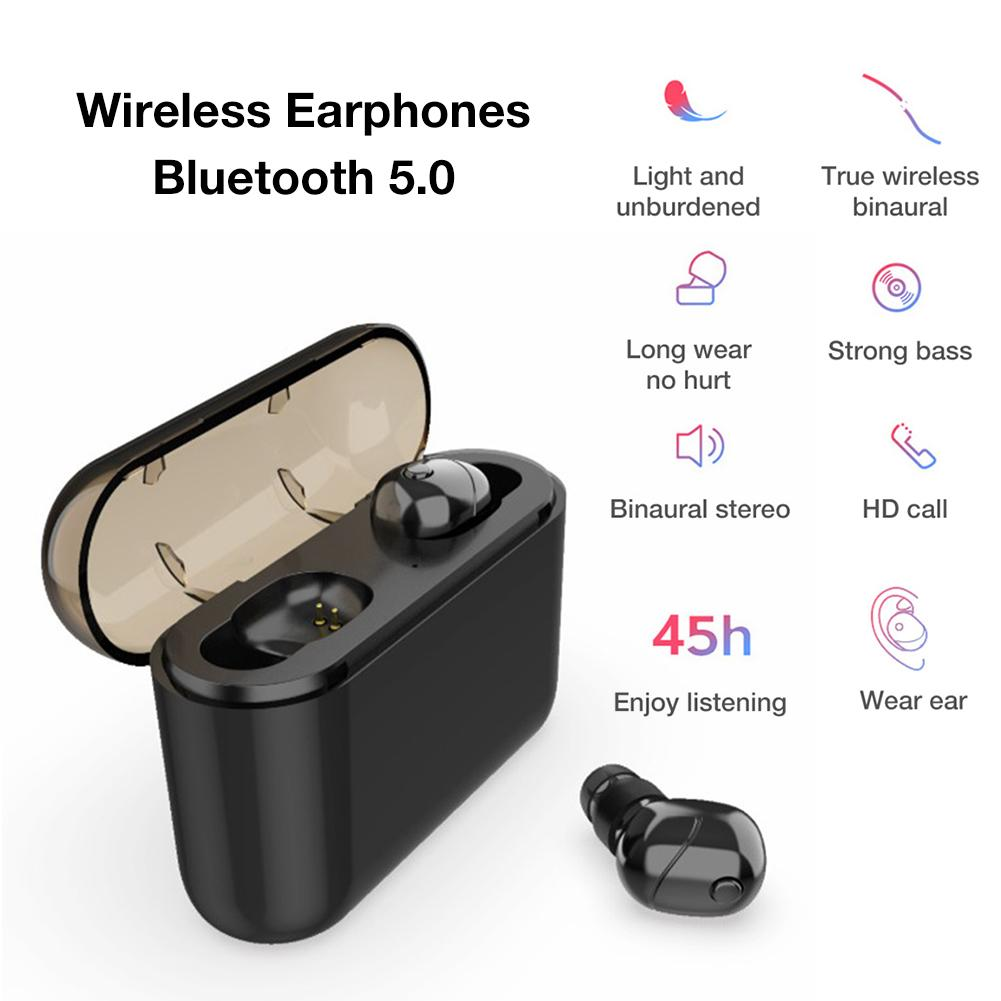 Bluetooth 5.0 Earphone HiFi Stereo Wireless Earphones Noise Reduction HD Sound Quality Calls Headset With Charging Box 2200 MAh