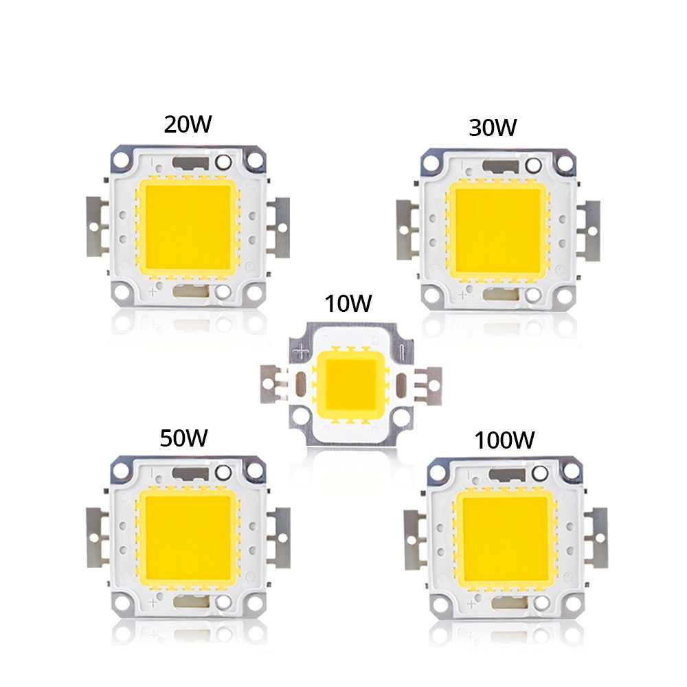 Cold Warm White 10W 20W 30W 50W 100W LED Light Matrix COB Integrated LED Lamp Chip SMD DC 10V-32V DIY Floodlight Spotlight Bulb