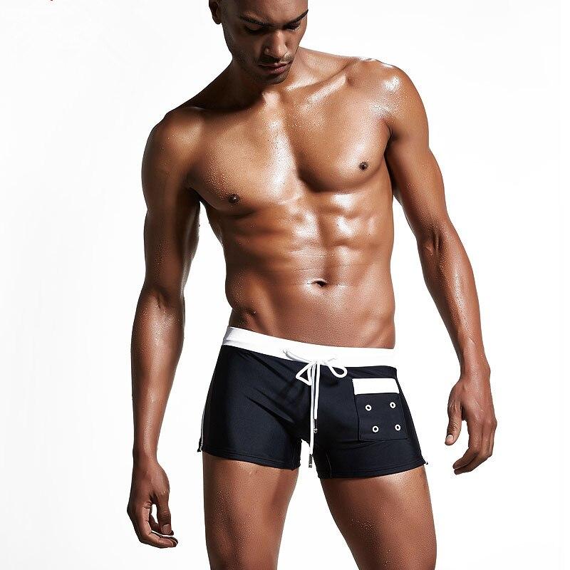 2017 nuovo di marca mens calzoncini da bagno costume da bagno swim shorts sexy sunga boxer
