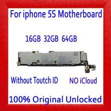 16 ГБ 32 ГБ 64 ГБ для iphone 5S материнская плата без сенсорного ID, 100% Оригинал разблокирован для iphone 5S материнская плата с системой IOS