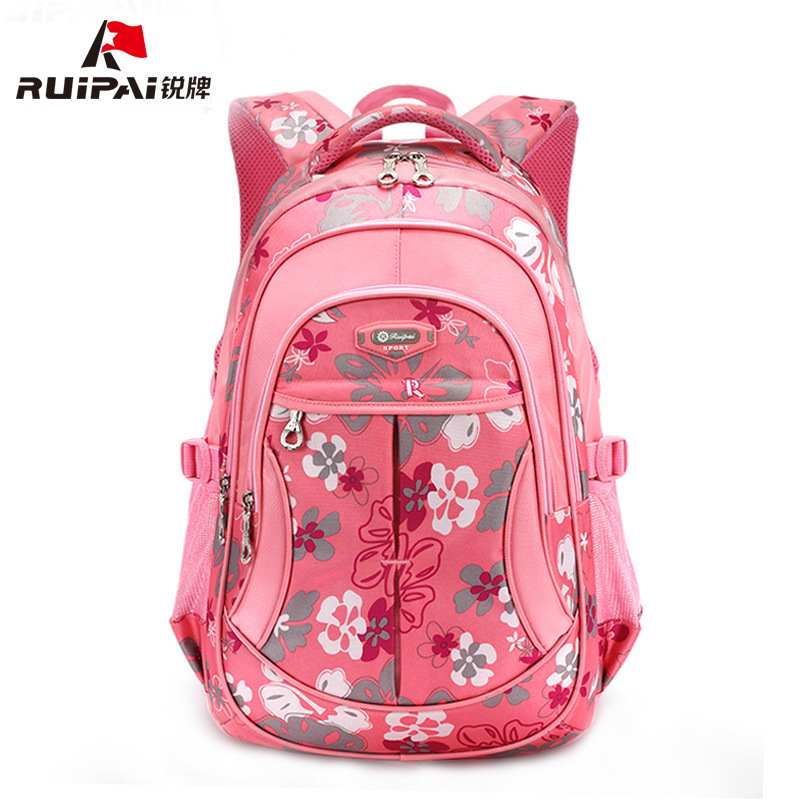 RUIPAI School Bags Polyester Kids Babys Bags Backpack Comfortable Schoolbags For Girls Boys Flower Shoulder Bags Mochila