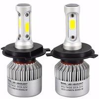 72W 6500K White Light S2 Car LED Headlight H4 LED 12v Automobiles Headlights Car LED Lights