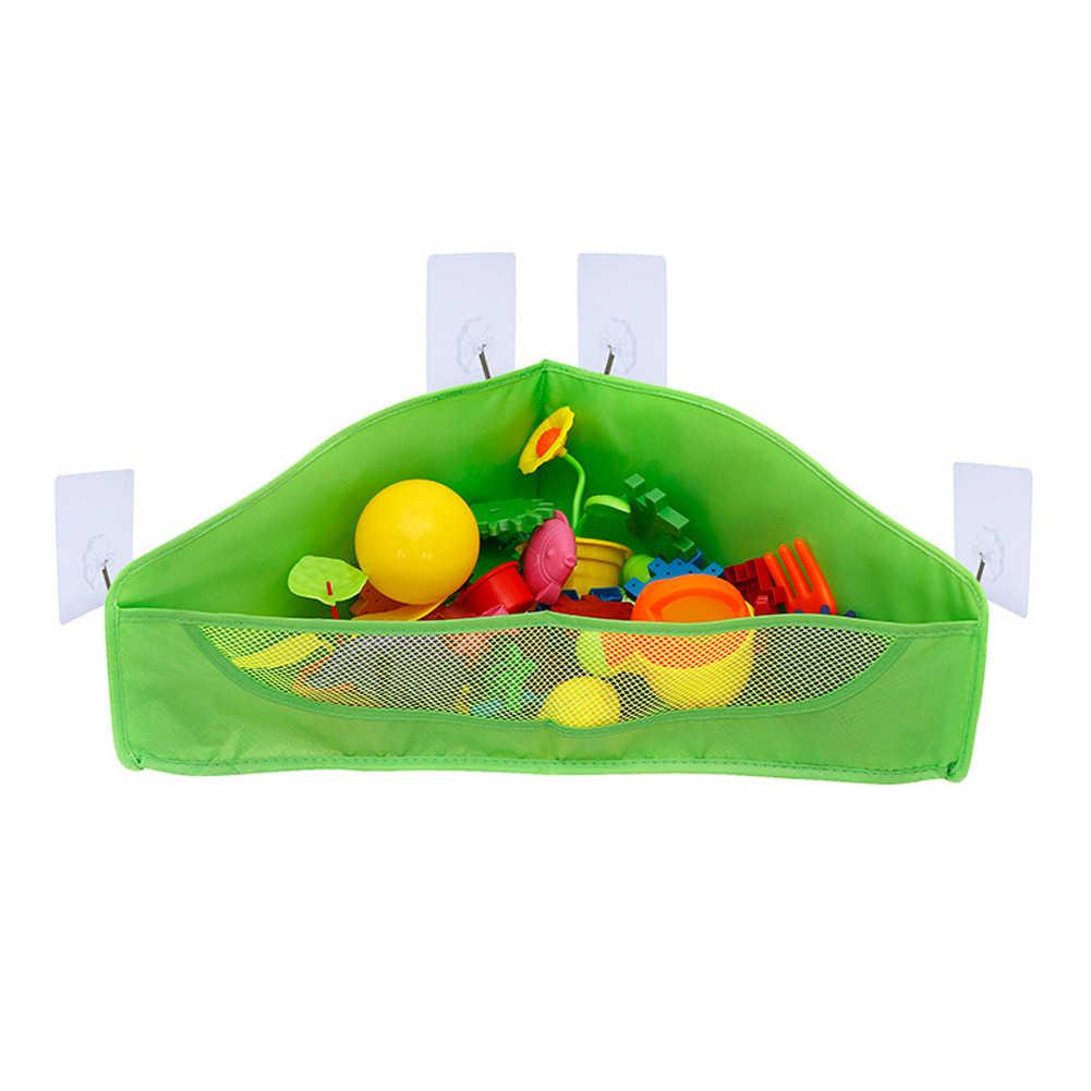 Crianças Brinquedo de Banho Saco De Armazenamento Net Cesta de Sucção Titular Container Organizador Pendurado Bolsos Durável e Economia de Espaço Dobrável