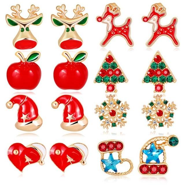 kolczyki świąteczne - aliexpress