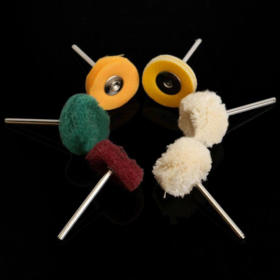 6 шт./компл. ограночного Полировка Pad Кисточки набор 25 мм полировальные инструмент для поворотный Бурильные долото металла, камня заусенцы у...