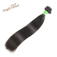 Angel Grace Hair Brazilian Straight Hair Weave 100g Piece 100 Straight Human Hair Bundles Natural Color