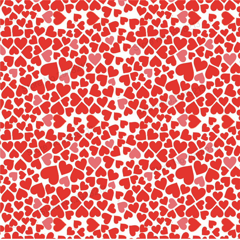 10 шт./лот Сердце Любовь День Святого Валентина Синтетическая кожа ткань для волос лук сумки 20*34 см PPUL13