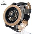 2017 BOBO BIRD Luxury Brand Mechanical Watch Men Maple Wood Wristwatches Genuine Leather Strap relogio masculino C-K14