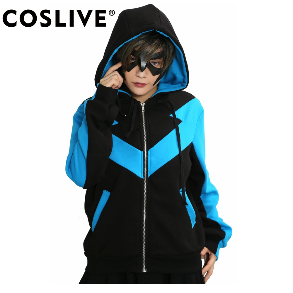 Xcoser Nightwing Hoodie Superhero Jacket Costume COSplay Gents - Carnavalskostuums