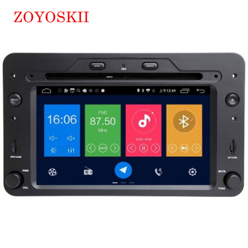 ZOYOSKII Android 8.0 8.1 7inch CAR DVD Radio GPS bluetooth Navigation player for For Alfa Romeo Spider Alfa Romeo 159 Brera 159
