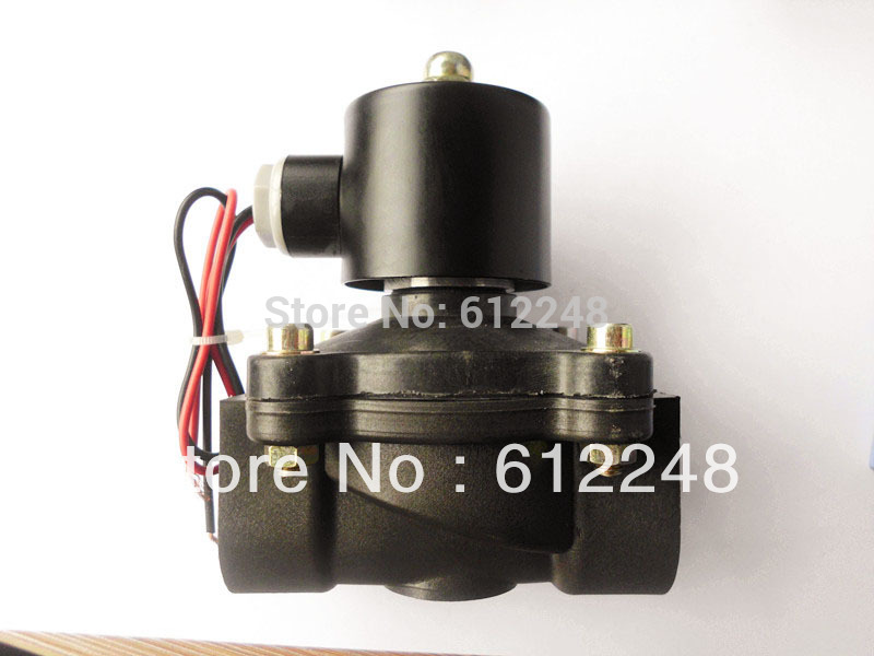 Électrovanne électrique en plastique d'ingénierie DN25, valve d'huile d'eau d'air, valve électromagnétique 1