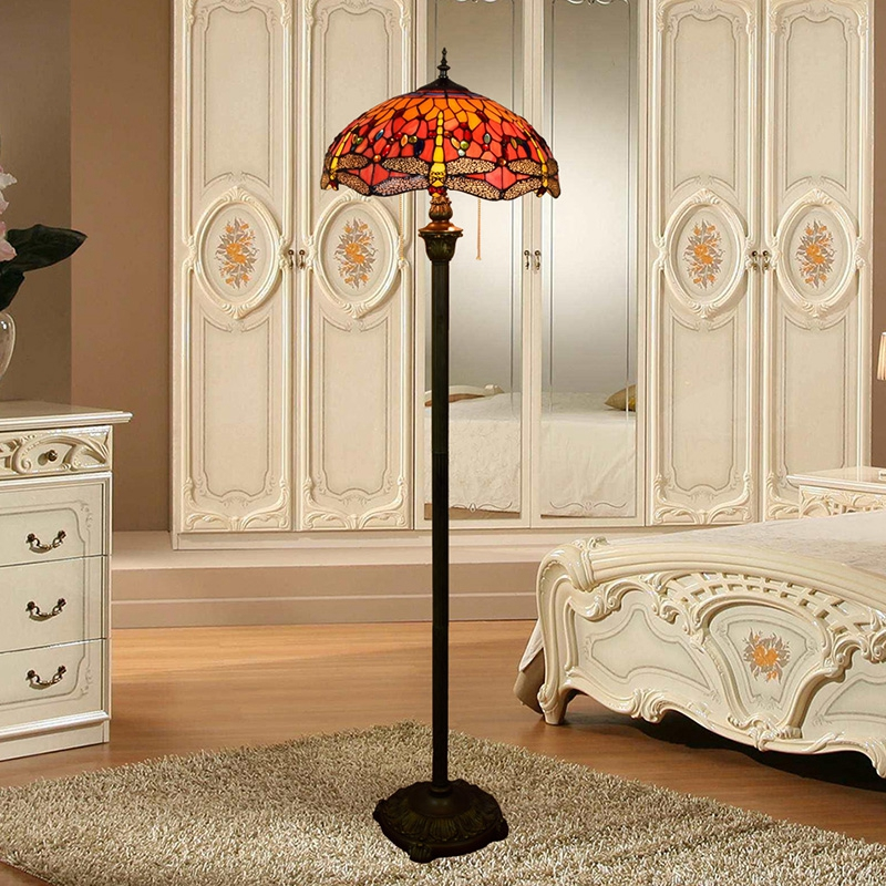 все цены на Eusolis Mosaic Stained Glass Floor Lamps European Style Creative Stained Glass Living Room Bead Lighting Bedroom Floor Lamp