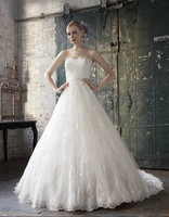 A line rich re embroidered appliques hem lace couture charmeuse band optional romantic chiffon wrap wedding dress bridal gown