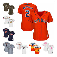 be883d1d0 MLB Women s Houston Astros 2 Alex Bregman White Pink Mother s Day 2018 Gold  Program