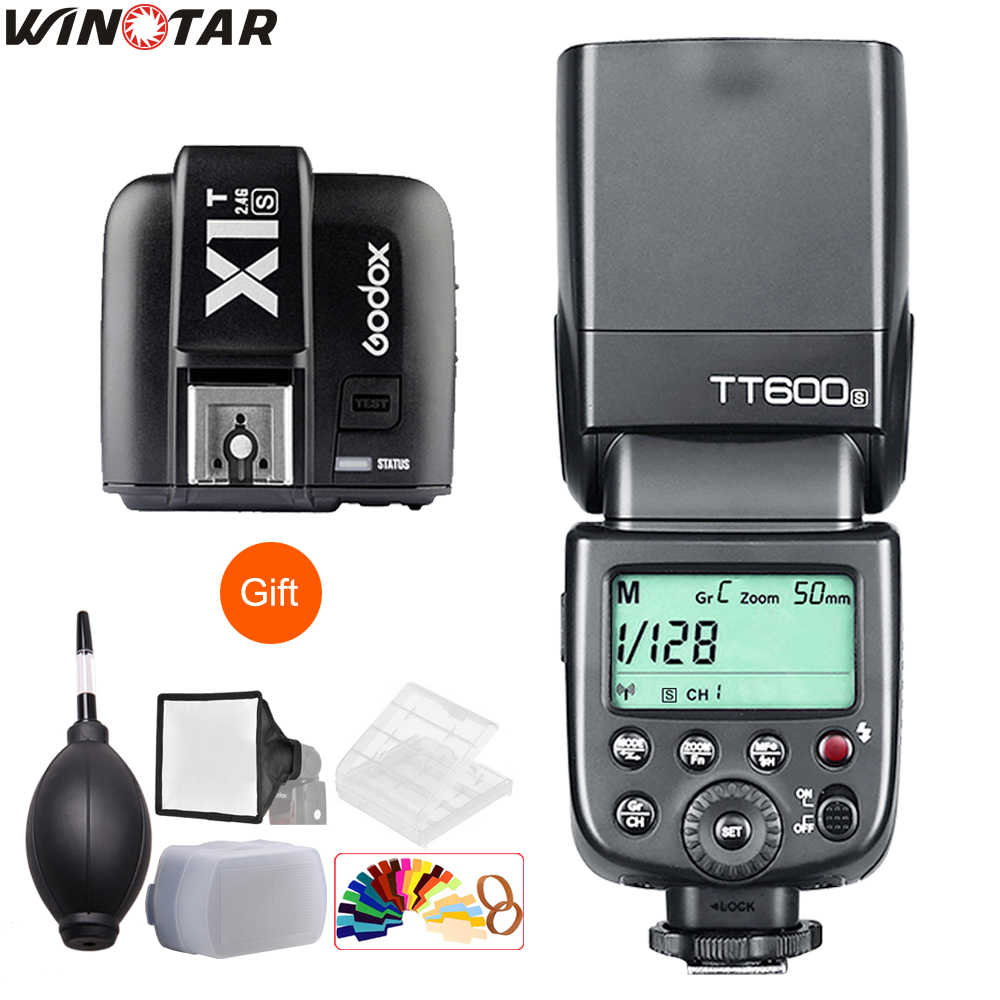 Godox TT600 TT600S 2.4G Wireless Camera Flash Speedlite + X1T-N/C/S/F/O Transmitter for Nikon Canon Sony Fuji Olympus Panasonic