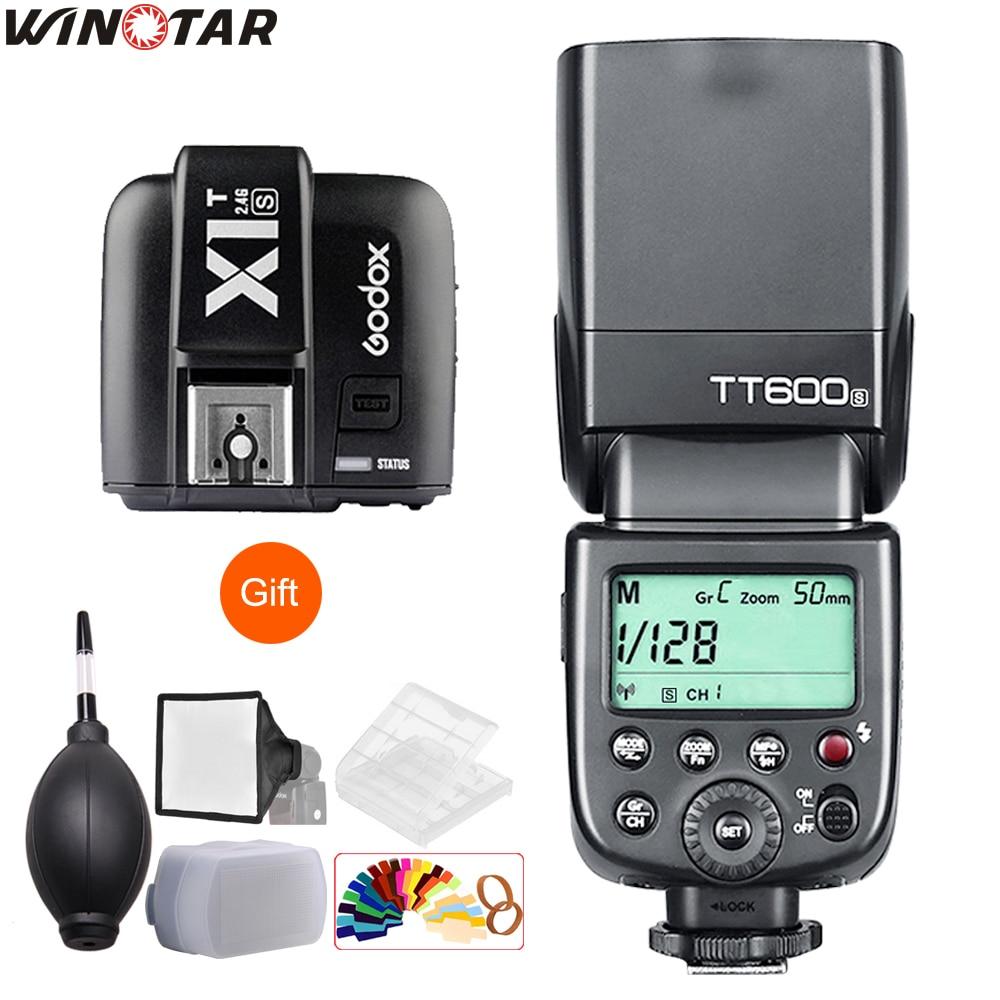 Godox TT600 TT600S 2.4G Wireless Camera Flash Speedlite + X1T-N/C/S/F/O Transmitter for Nikon Canon Sony Fuji Olympus Panasonic godox x1t f x1t c x1t s x1t o x1t n 2 4g wireless ttl hss flash trigger transmitter for canon nikon sony fujifilm olympus camera