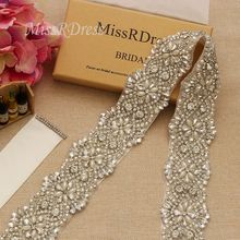 Missdress robe de mariée grande taille ceinture avec perles, cristal argenté, strass, ceinture de mariée, robe de bal, JK811