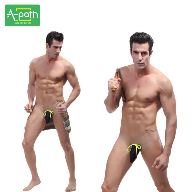 2018 Men's G-string Sexy Swim Trunks Swimwear Sports Summer Man Dry Spell 8 Color Swimming Trunks One Piece Swimsuit Men Fitness