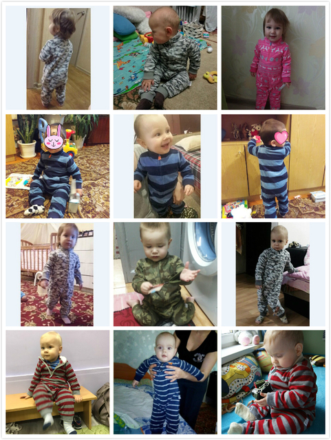 2019 Baby clothes bebes jumpsuit collar fleece newborn pajamas infants baby boys clothes toddler boys clothes coveralls outwear 5