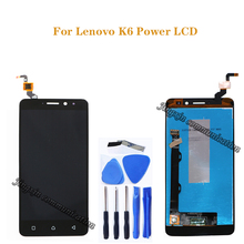 5.0 for Lenovo K6 Power display sensor + touch screen digitizer power K33a42 k33a48 mobile phone repair parts