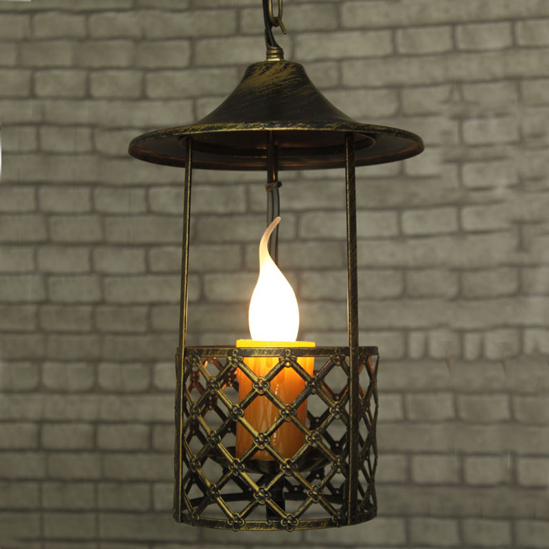 Chinese antique American Pendant lamps rural countryside entrance corridor for a single head candle Pendant Lights FG673 LU1024 vitacci vitacci 53642