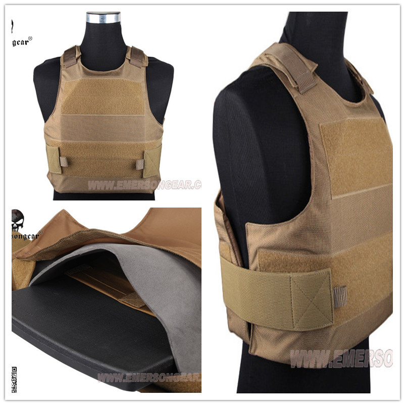 EMERSON Assault Plate Carrier Tactical vest airsoft painball molle combat gear Coyote Brown