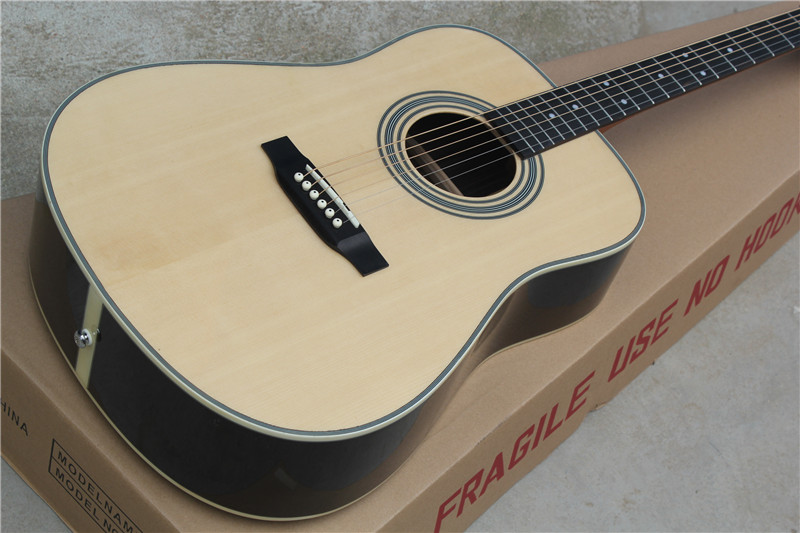 free shipping China Custom Guitar High Quality  Solid Spruce Top Acoustic Guitar in stock 1117 srjtek 8 for lenovo yoga yt3 850 yt3 850m yt3 850f lcd display with touch screen digitizer glass panel sensor assembly parts