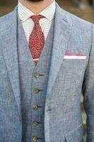 Latest Coat Pant Designs Blue Tweed Men Suits Slim Fit Custom Groom Prom Tuxedo 3 Piece Blazer Winter Terno Jacket+Pants+Vest #