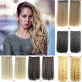 60cm 110g Synthetic Hair Long Curly Ponytail Ladies'Clip In Hair Extensions Natural Corn Wavy Extension Hair 14Colors Available