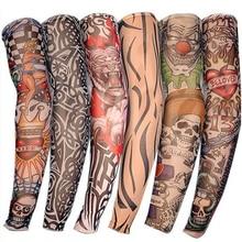 ┽ Летние велосипедные спортивные рукава с татуировкой UV Cool Arm Рукава для велоспорта Бег унисекс √