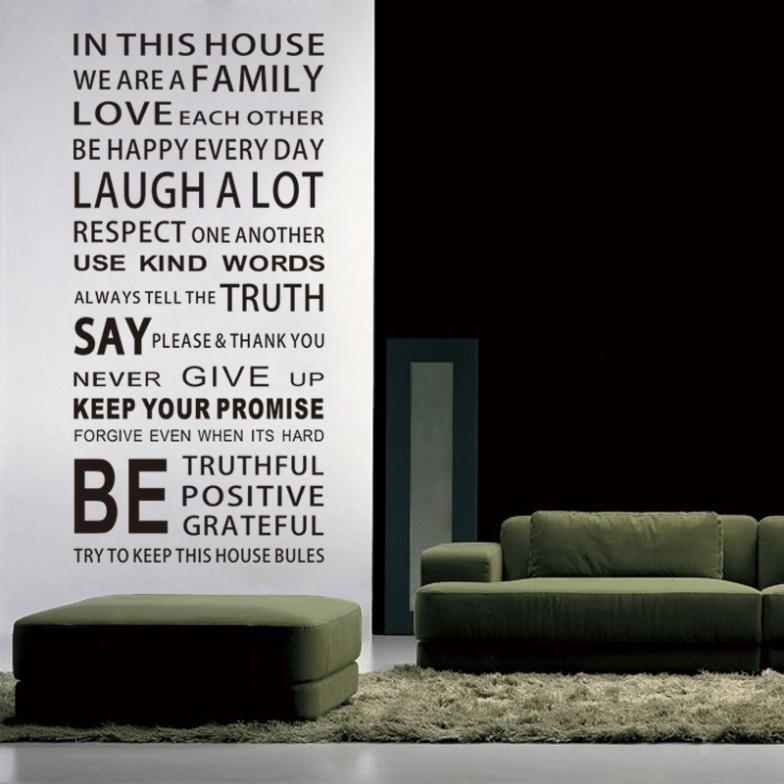 In zegt huis engels diy glas vinyl muurstickers home decor woonkamer sofa muurstickers decoratie behang schilderen