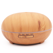 Aroma Essential Oil Diffuser Ultrasonic air humidifier 7 Color Changing LED Lights 300ml Aromatherapy machine with Wood Grain