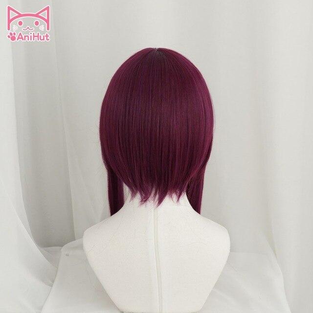 Anihut LOL jeu Cosplay perruque KDA POP/STAR Akali Cosplay perruques femmes longue ligne droite violet rouge perruque LOL KDA Akali KPOP peau cheveux