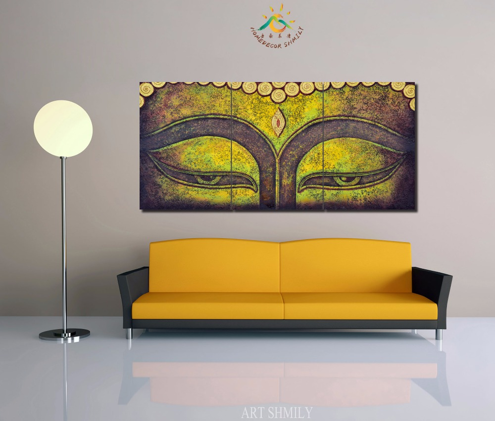 3 4 5 Pieces Modern Wall Art Printed Painting Buddhism The Buddha ...