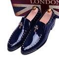 2016 Мужчины оксфорд обувь Дышащая Лакированной Кожи Мужчины Квартиры мужской Обуви Заклепки Лето Весна Повседневная Обувь Для Мужчин Sapatos Masculinos