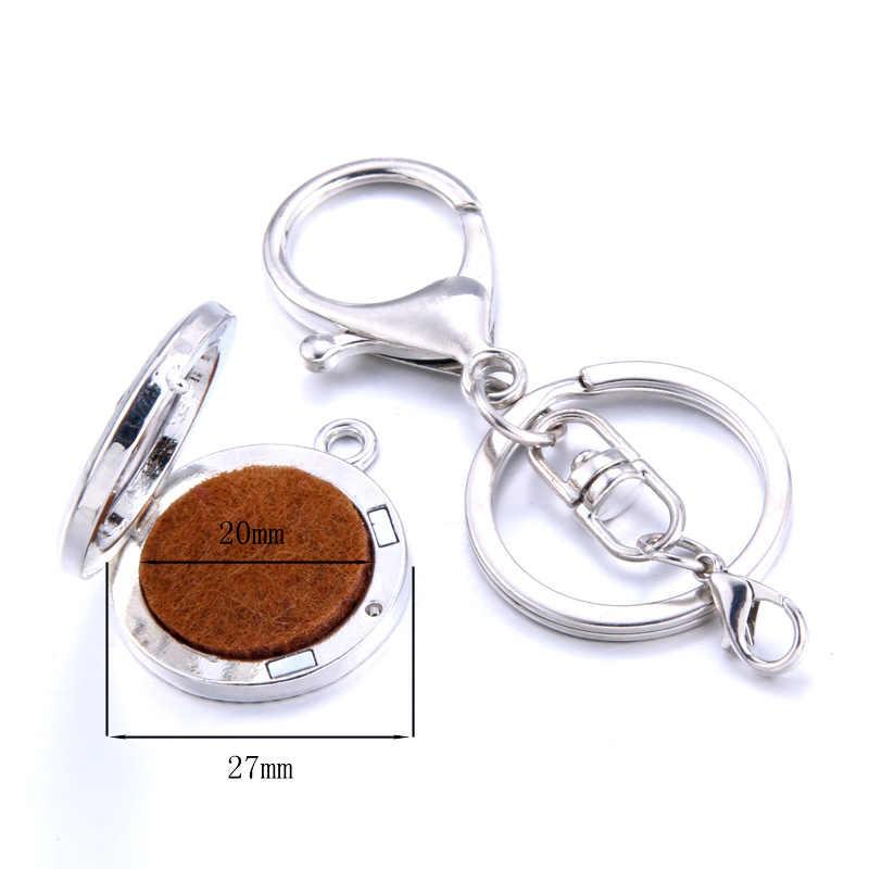קליידוסקופ דפוס נירוסטה ארומתרפיה מפתח שרשרת בושם מפזר keychain ארומה מפזר קסם תליית קישוט