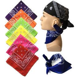 Унисекс хип хоп черная бандана мода головной убор, резинка для волос средства ухода за кожей Шеи Шарф наручные обертывания квадратный