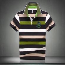 Men Classic Striped Polo Shirt Cotton Short Sleeve NEW Arrived 2016 summer Plus size M-XXXXL