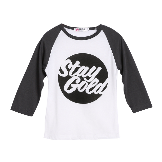 9c87f06c660c7 Baby Kid Shirt Tops Cute Letters Kids Raglans Designer Baby Toddler Unisex  Clothes Cotton Long Sleeve Tee Shirts Kids Clothes