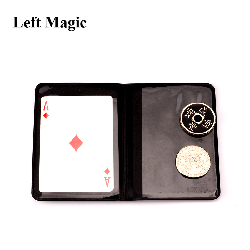 Leather Coin Magic Tricks Mental Ancient Coins Magic Coins Coin Transposition Accessories Close Up Magic Props Illusions