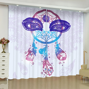 Dreamcatcher curtains for window Buddha statue Dreamcatcher blinds finished drapes window blackout curtains parlour room blinds