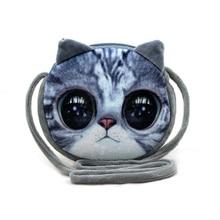 New 2016 Chirldren Fashion Small Shoulder Bag 3D Print Head Animal Cat Dog  High Quality  For Kids Mochila Infantil