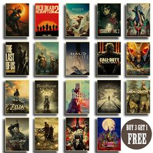 Classic popular game collection many kinds of game poster Game lovers room decora Art painting wall stickers(China)