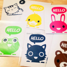 2Pcs/Lot Free Shipping Creative Hello Cat Switch Stickers Wall Stickers Home Decoration Bedroom Parlor Decoration