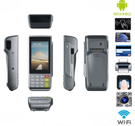 Handheld Ic Card POS Terminal With Thermal Printer With Magnetic Card/Smart  Rfid Ic Card Pos Electronic Consumer Terminal