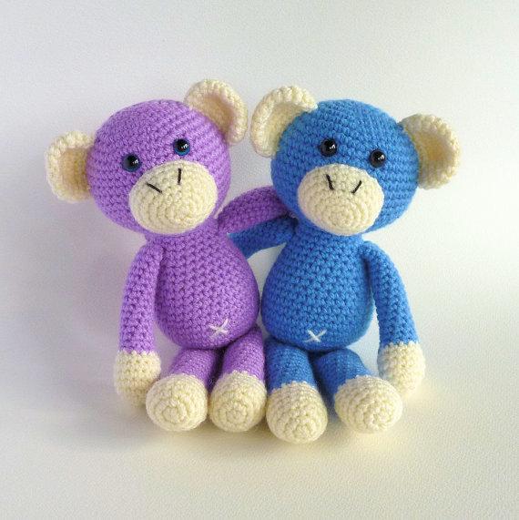 Aliexpress Buy Amigurumi Monkey Purple Monkey Cute Crochet